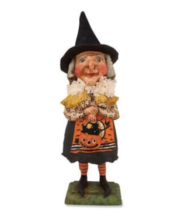 Old Witch with Jack O\'Lantern