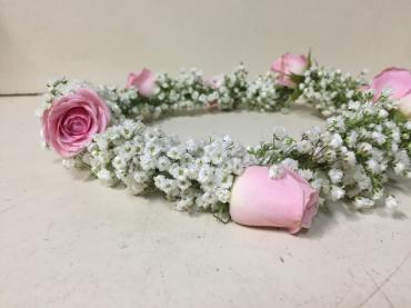 Flower Crown-Babies Breath & Baby Roses