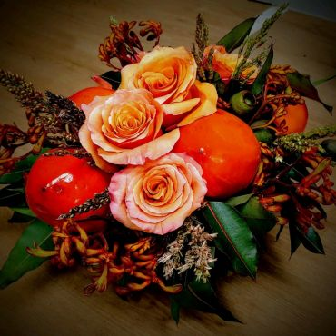 Persimmons and Roses