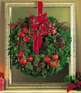 Pomegrante & Berry Door Wreath