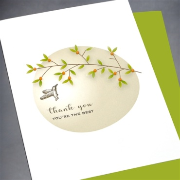 Floral<BR> Thank You Card